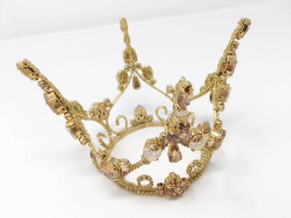 Bejewelled Crystal Gold Coronet Crown
