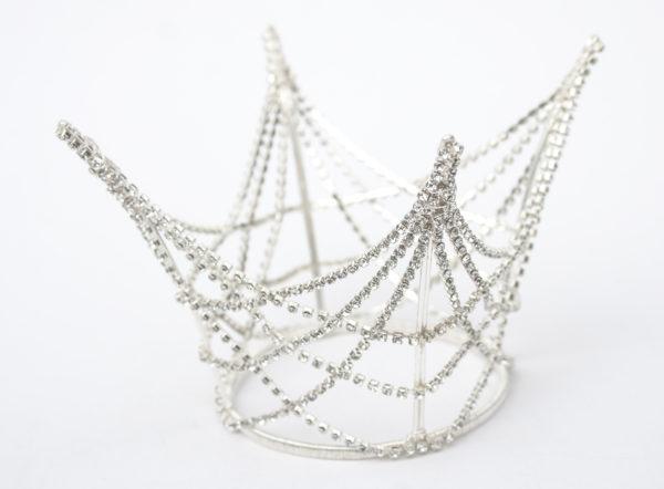 Silver Diamante Princess Crown from Chantal Mallett Wedding Accessories & Jewellery