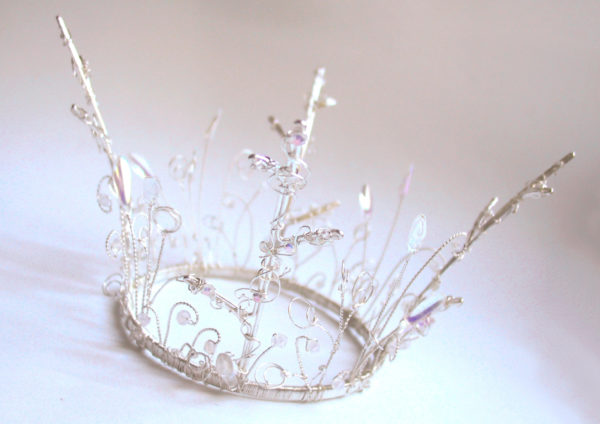 Silver Crystal Fantasy Crown from Chantal Mallett Wedding Accessories & Jewellery
