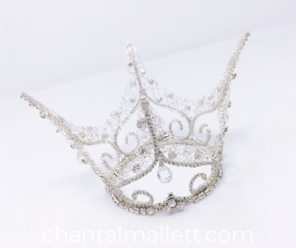 Silver Fairytale Crystal Crown